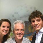 Cees Dekker met Carlijn en Marc